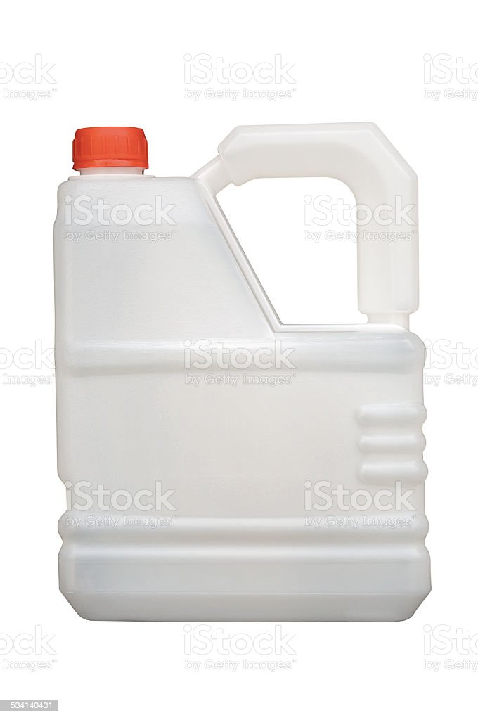 canister made of polyethylene stock photo