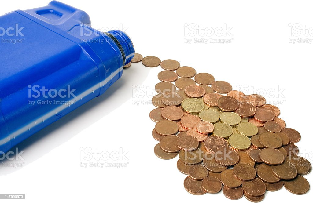 Canister Of Oil And Gas Prices Concept 1 royalty-free stock photo