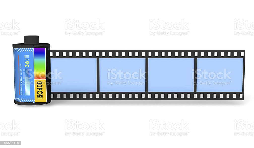Canister with film royalty-free stock photo