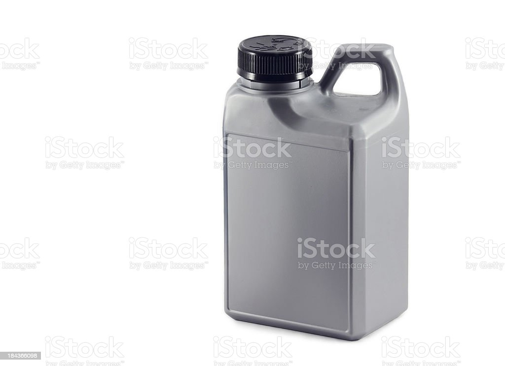 canister with oil. auto parts stock photo