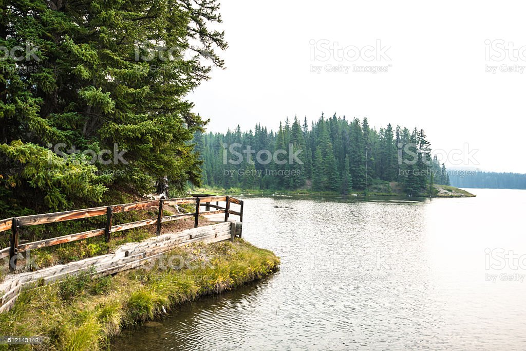 Canmore area in Banff National Park - Canada stock photo