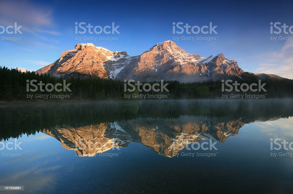 Canmore Canadian Rockies Mountain Scenic royalty-free stock photo