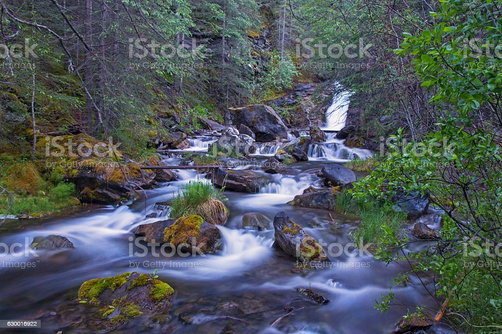 Canmore Creek stock photo