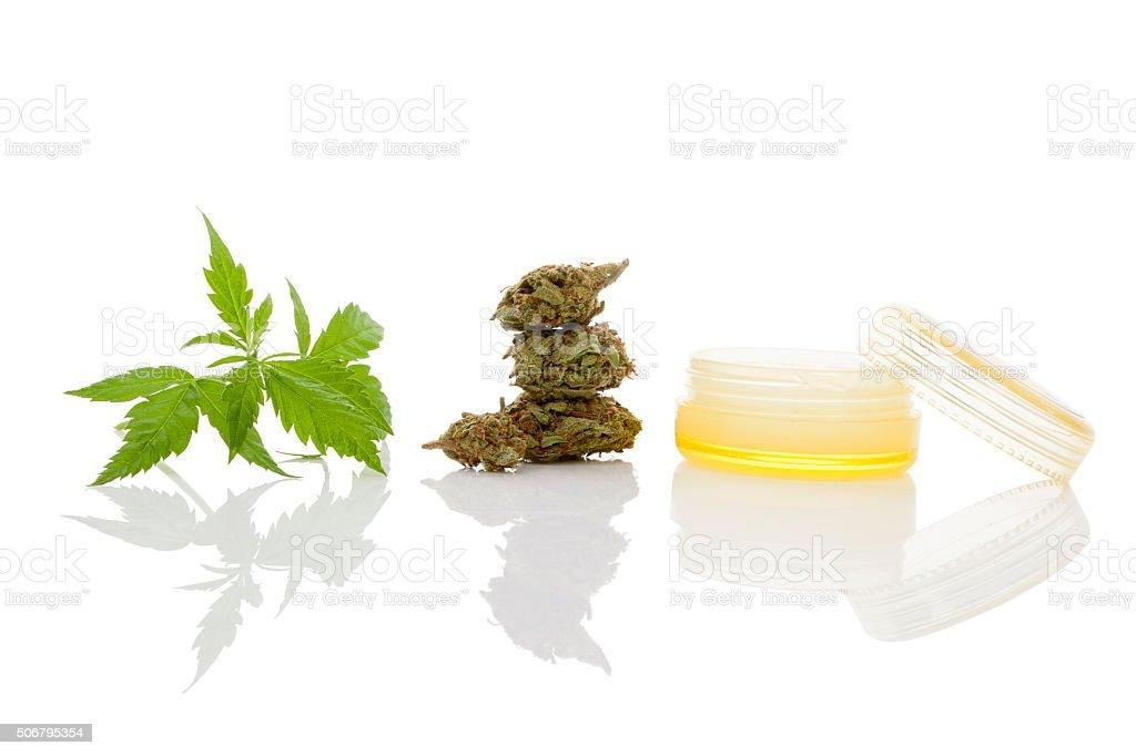 Cannabis cream. stock photo