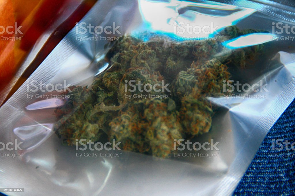 Cannabis in a Package stock photo