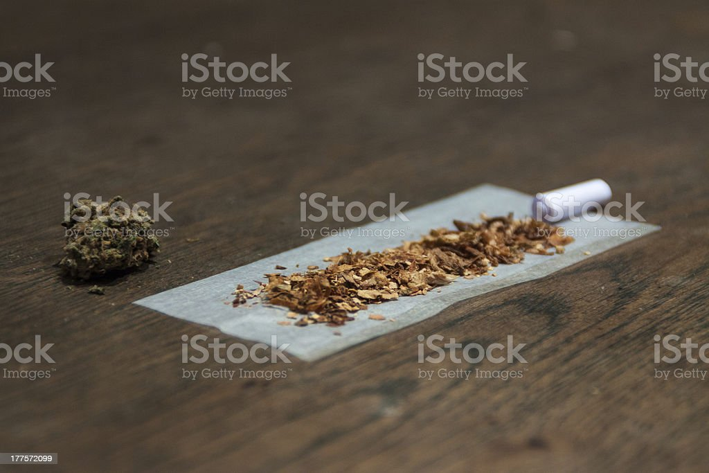 Cannabis Joint stock photo