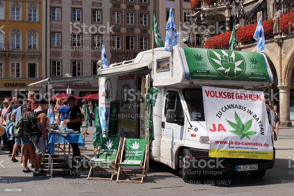 Cannabis legalization campaign in Munich stock photo