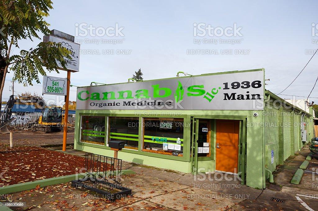 Cannabis Organic Medicine Springfield Oregon stock photo