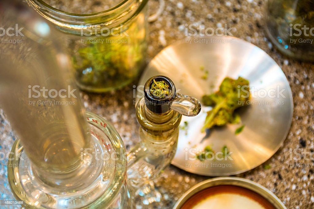 Cannabis THC ready to smoke stock photo