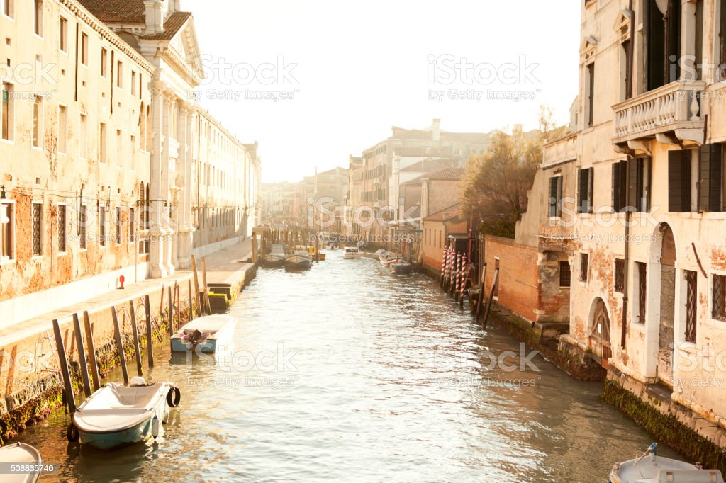 Cannaregio district in venice stock photo
