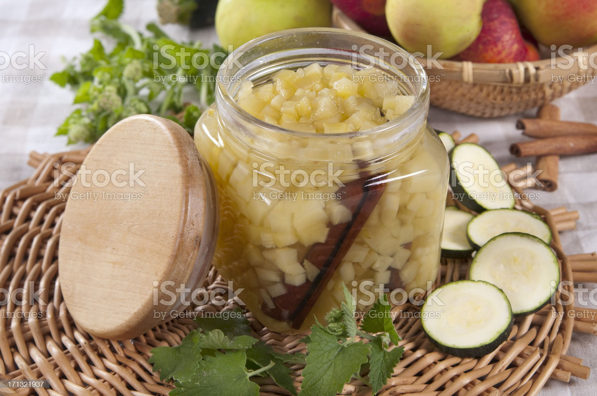 canned apples royalty-free stock photo