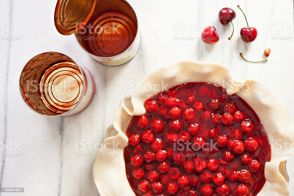Canned Cherry Pie stock photo