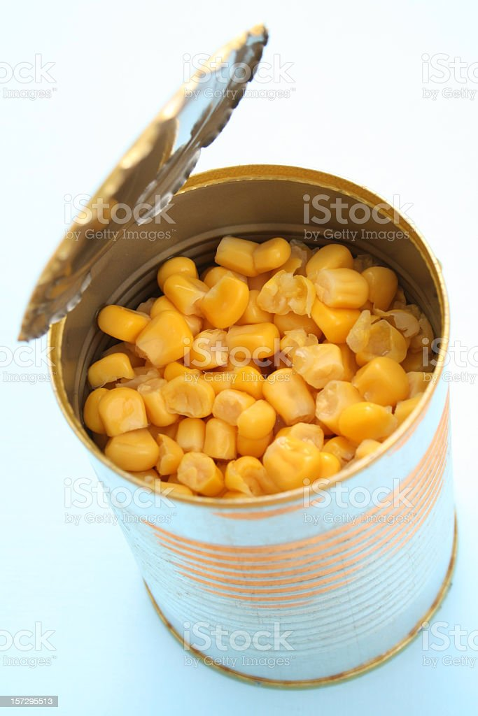 Canned corn royalty-free stock photo