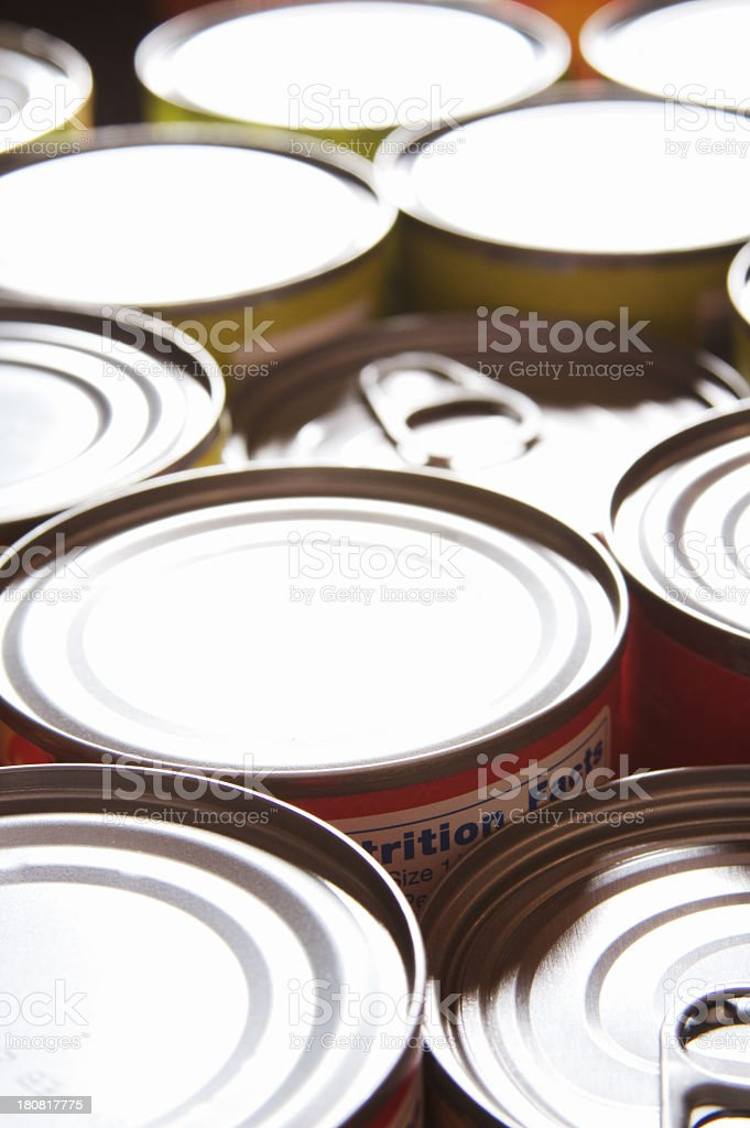Canned Food Background stock photo