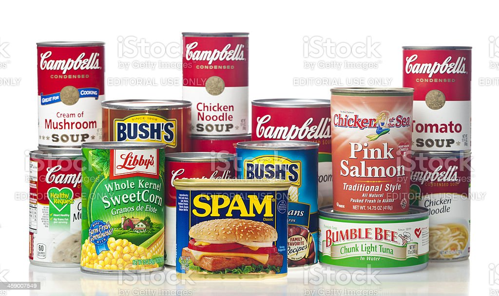 Canned Foods royalty-free stock photo
