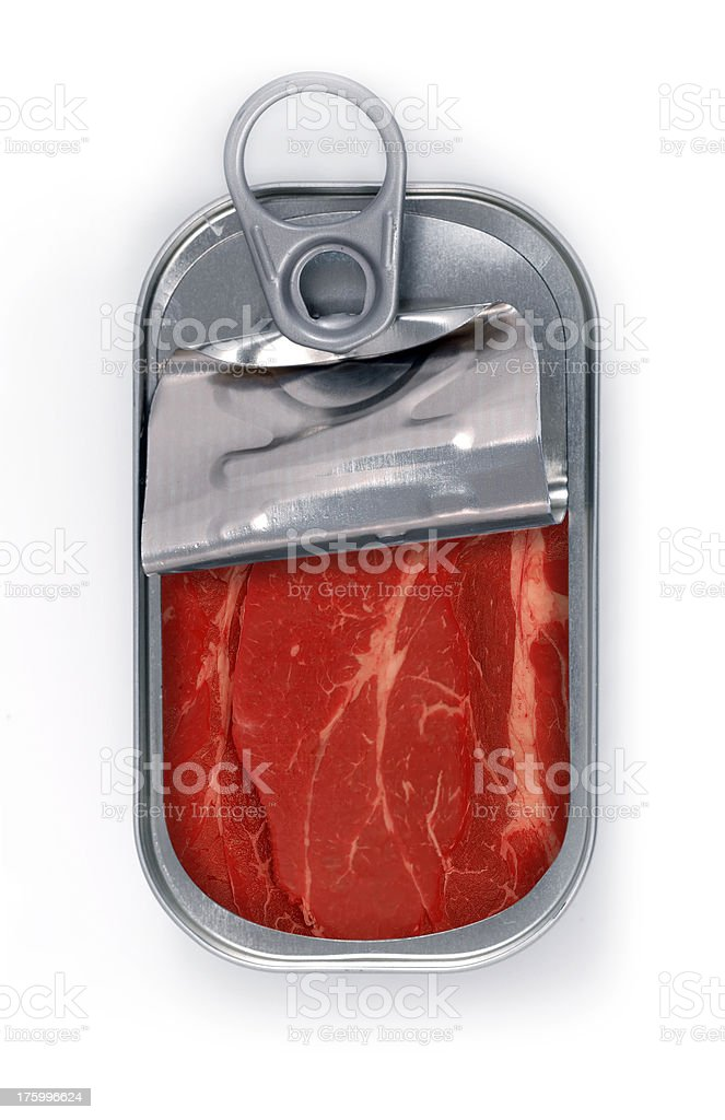 canned fresh meat royalty-free stock photo