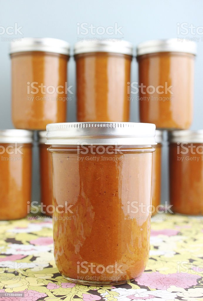 Canned fruit preserves stock photo