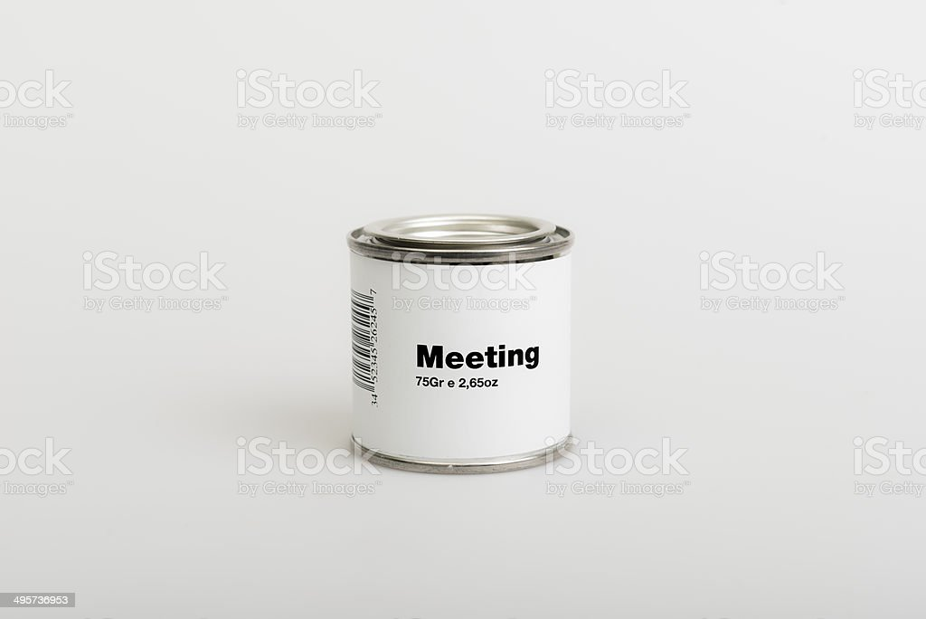 Canned Meeting stock photo