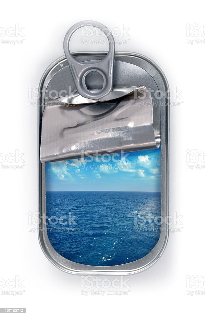 canned ocean stock photo
