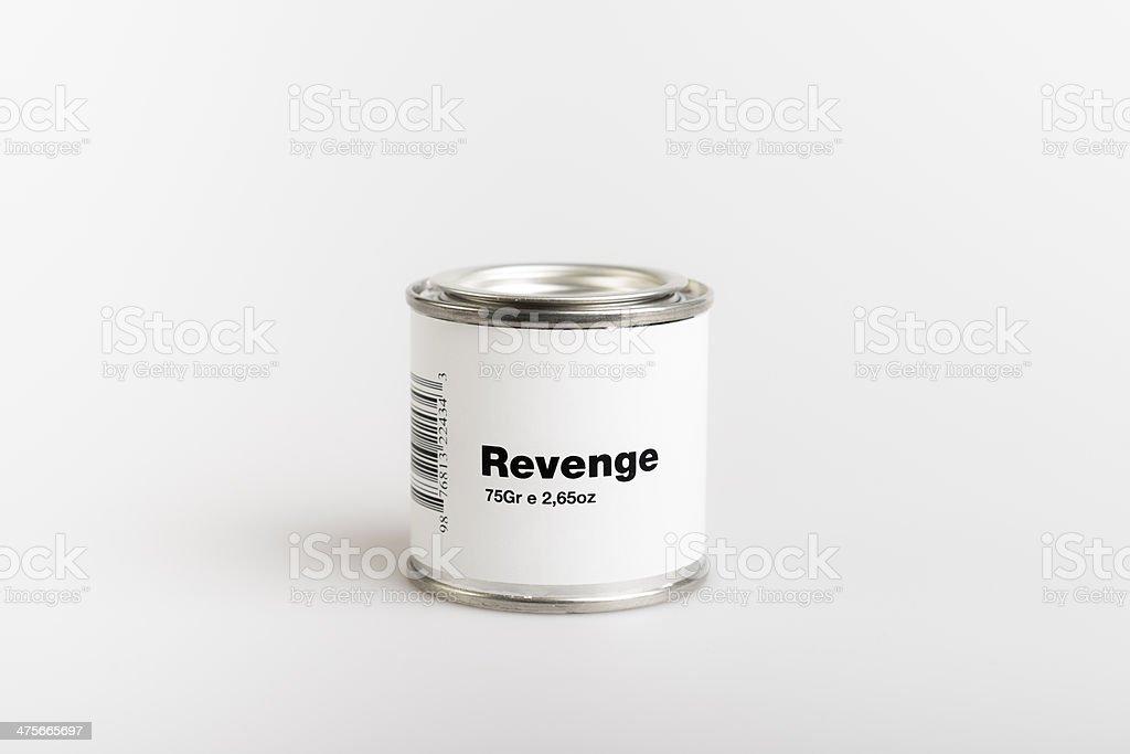 Canned Revenge stock photo