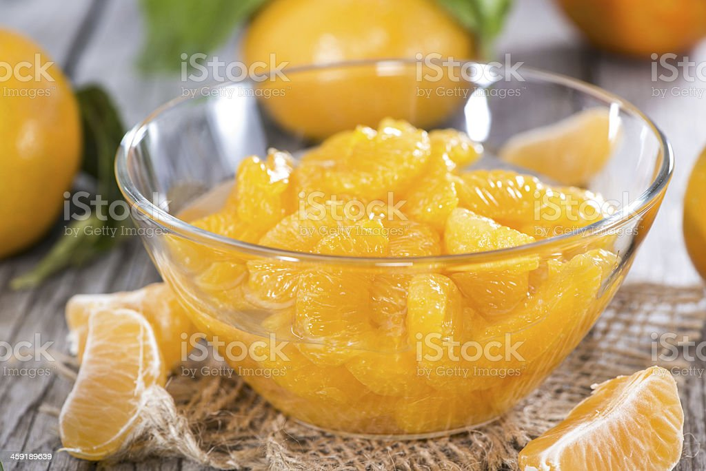 Canned Tangerines royalty-free stock photo