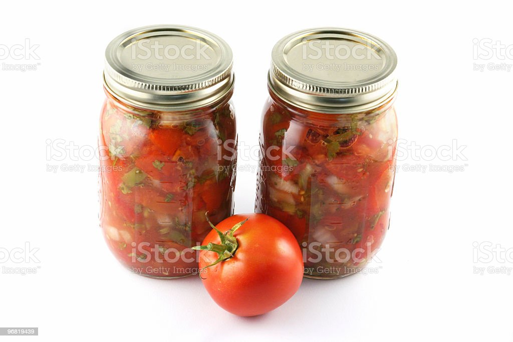 Canned tomatoes 2 royalty-free stock photo