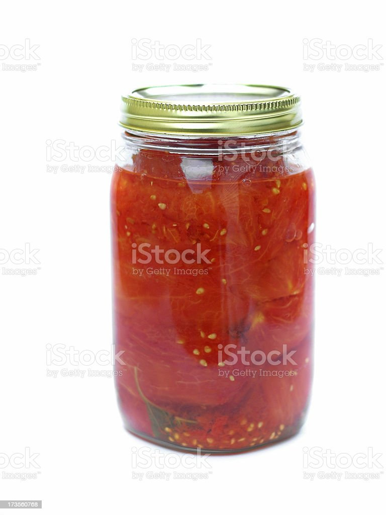 Canned Tomatoes royalty-free stock photo