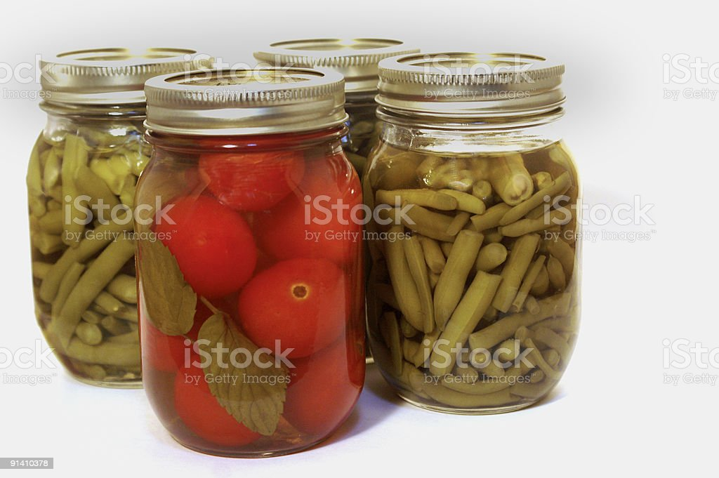 Canned vegetables royalty-free stock photo