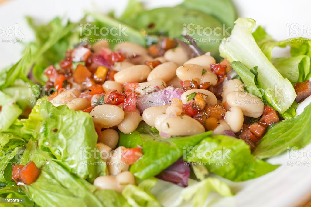 Cannellini Bean Salad stock photo