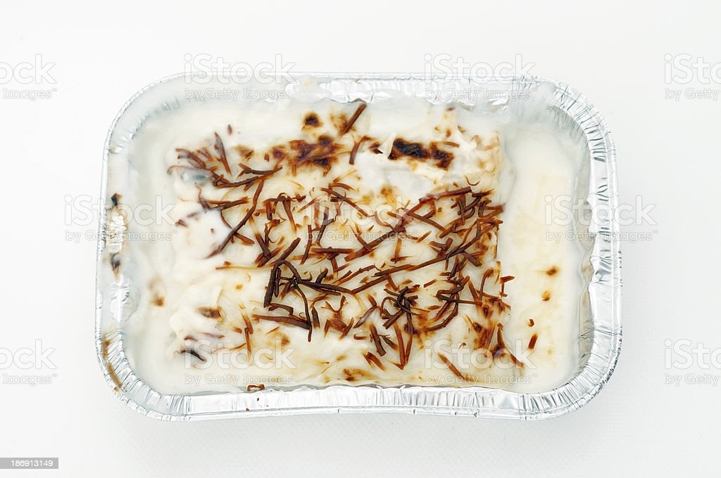 Cannelloni in a tray royalty-free stock photo