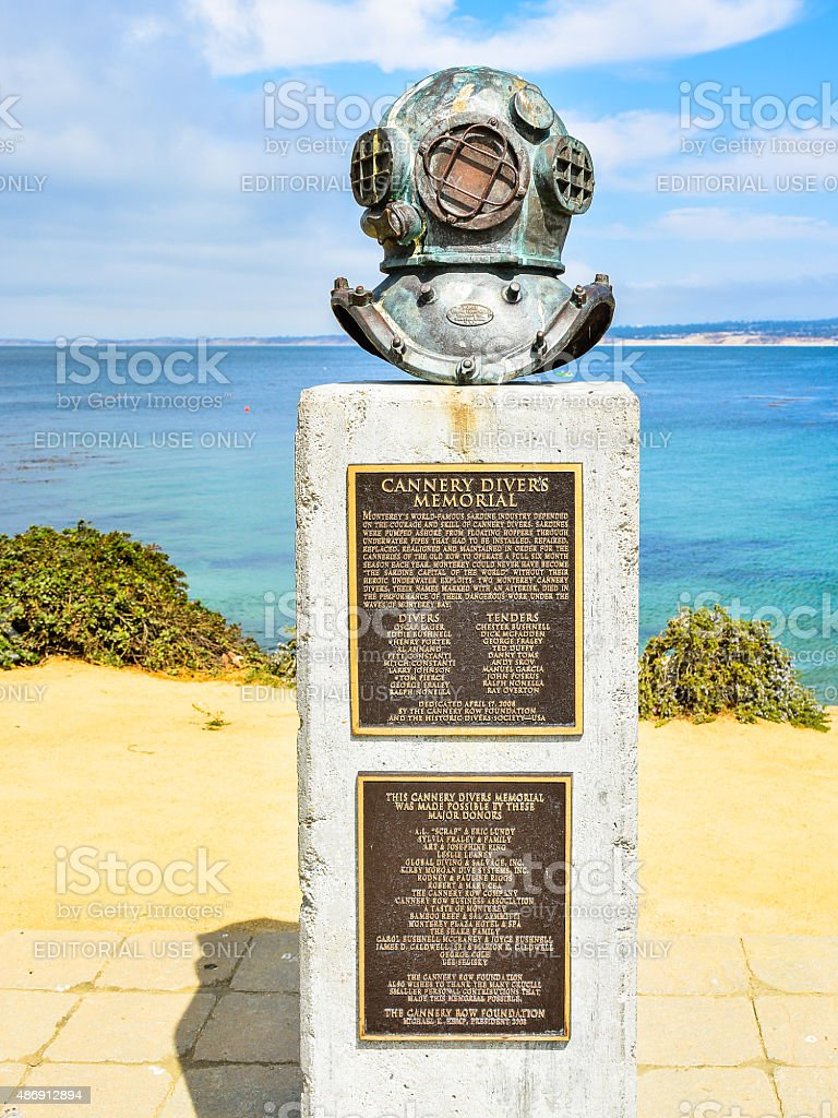 Cannery Divers Memorial - Monterey, CA stock photo