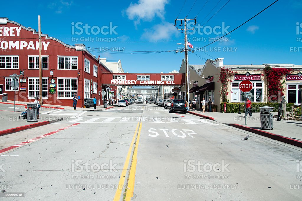 Cannery Row in Monterey stock photo