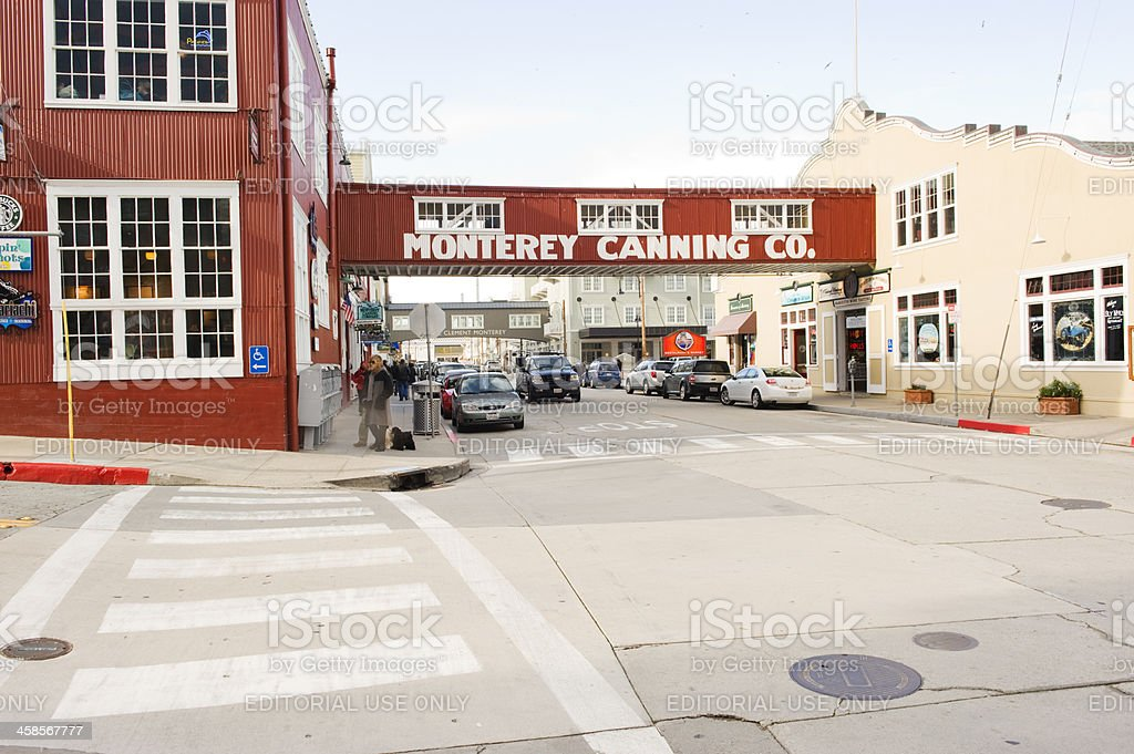 Cannery Row Monterey stock photo