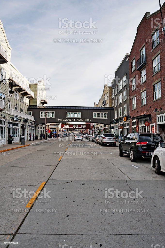 Cannery Row roadway with views stock photo