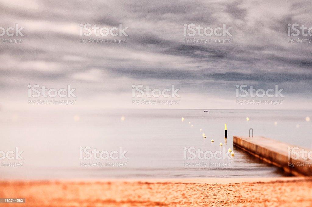 Cannes Beach stock photo