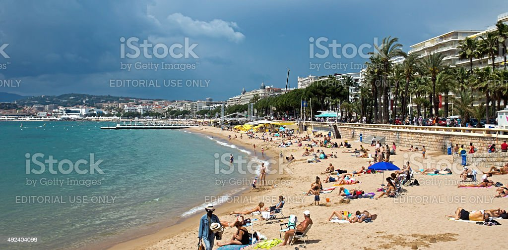 Cannes - Beach stock photo