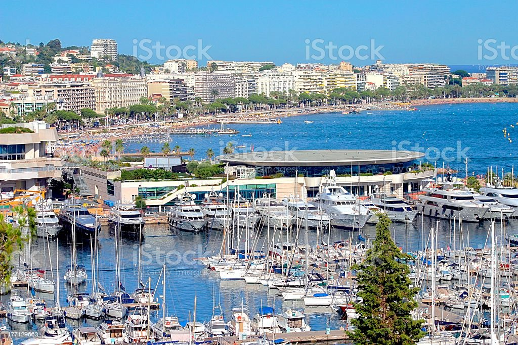 Cannes city view, south of France stock photo
