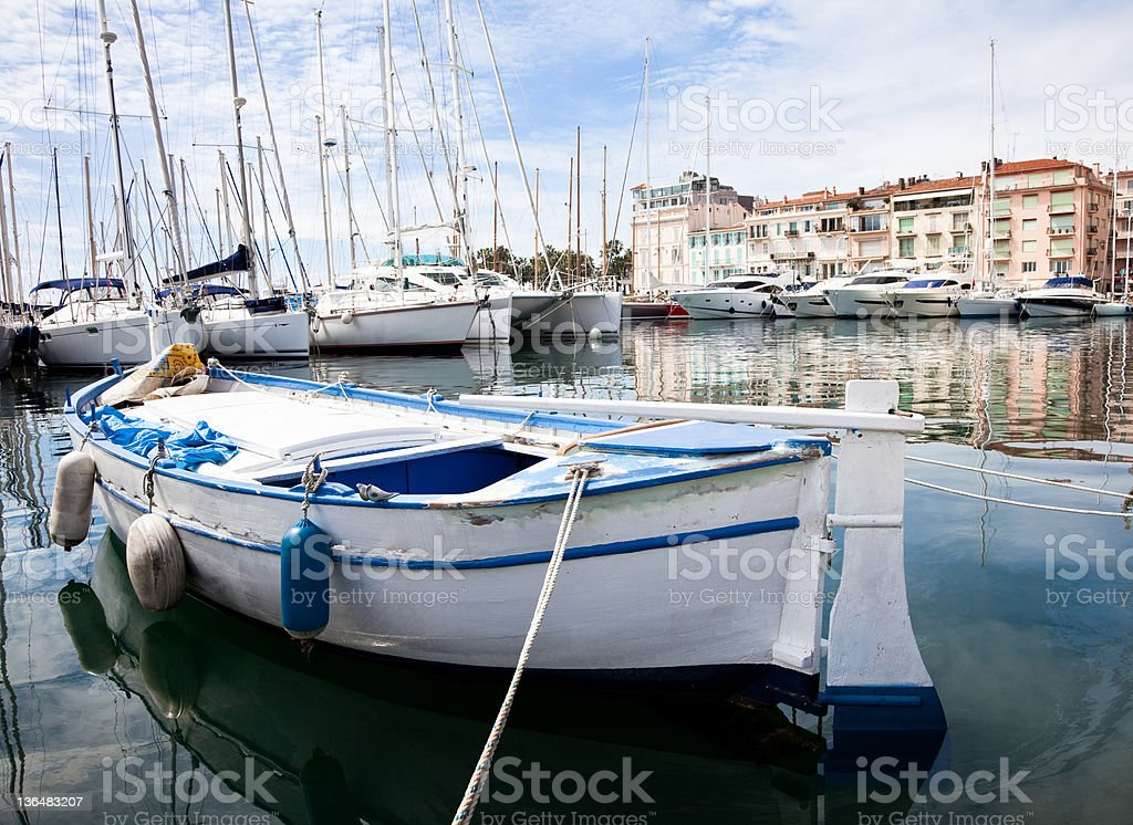 Cannes Harbour royalty-free stock photo