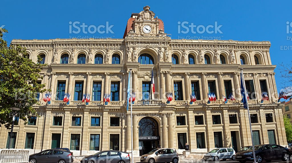 Cannes - Hotel de Ville stock photo