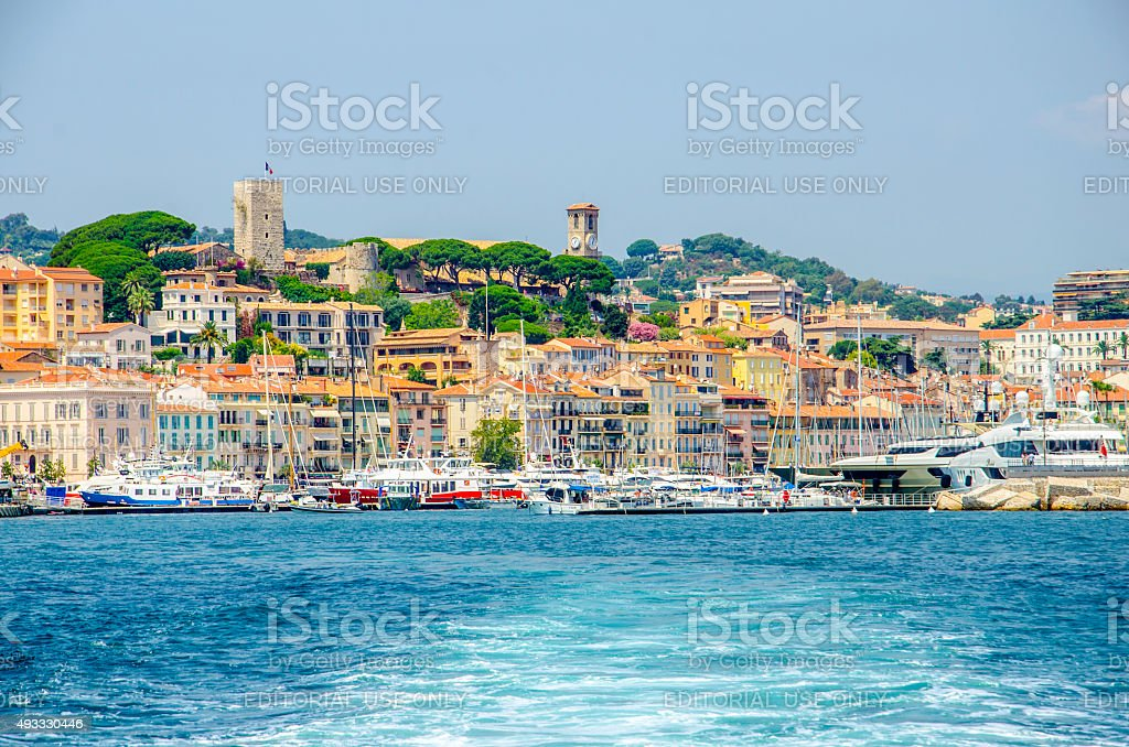Cannes in France stock photo