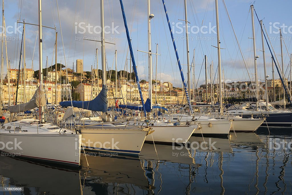 Cannes in the morninig royalty-free stock photo