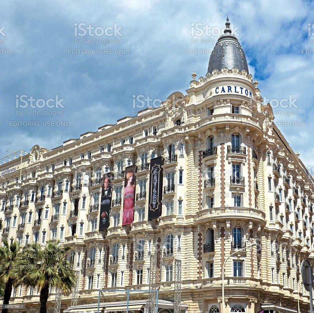 Cannes - luxury hotel Carlton stock photo