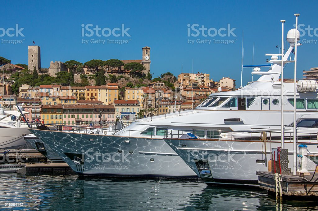 Cannes Old Town and Harbor - South of France stock photo
