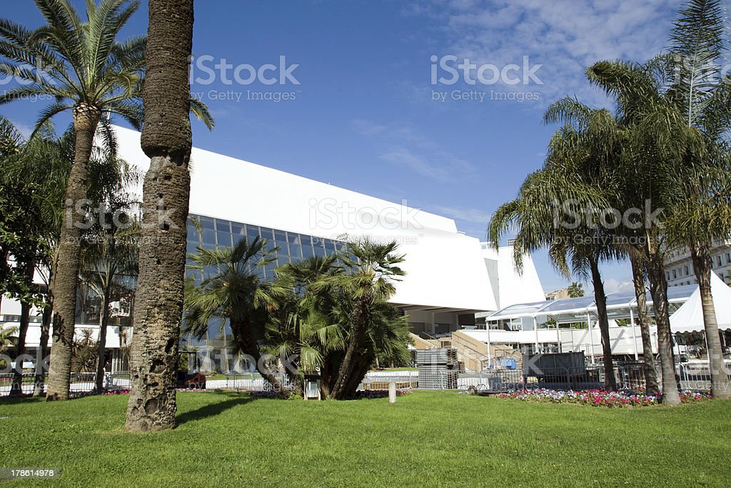 Cannes - Palace of Festivals and Congress stock photo