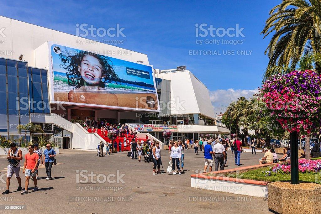 Cannes, Palais des Festivals et des Congrès - France stock photo
