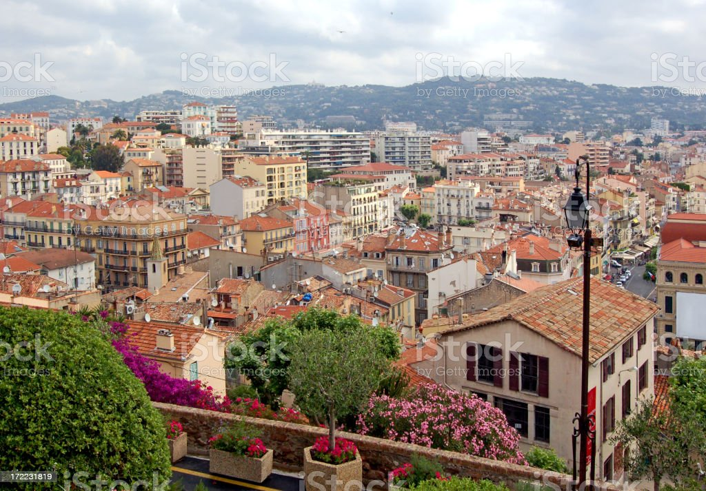 Cannes - panorama of the city royalty-free stock photo
