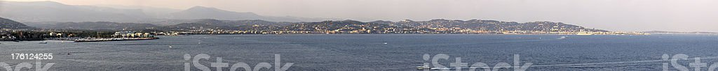 Cannes panorama royalty-free stock photo