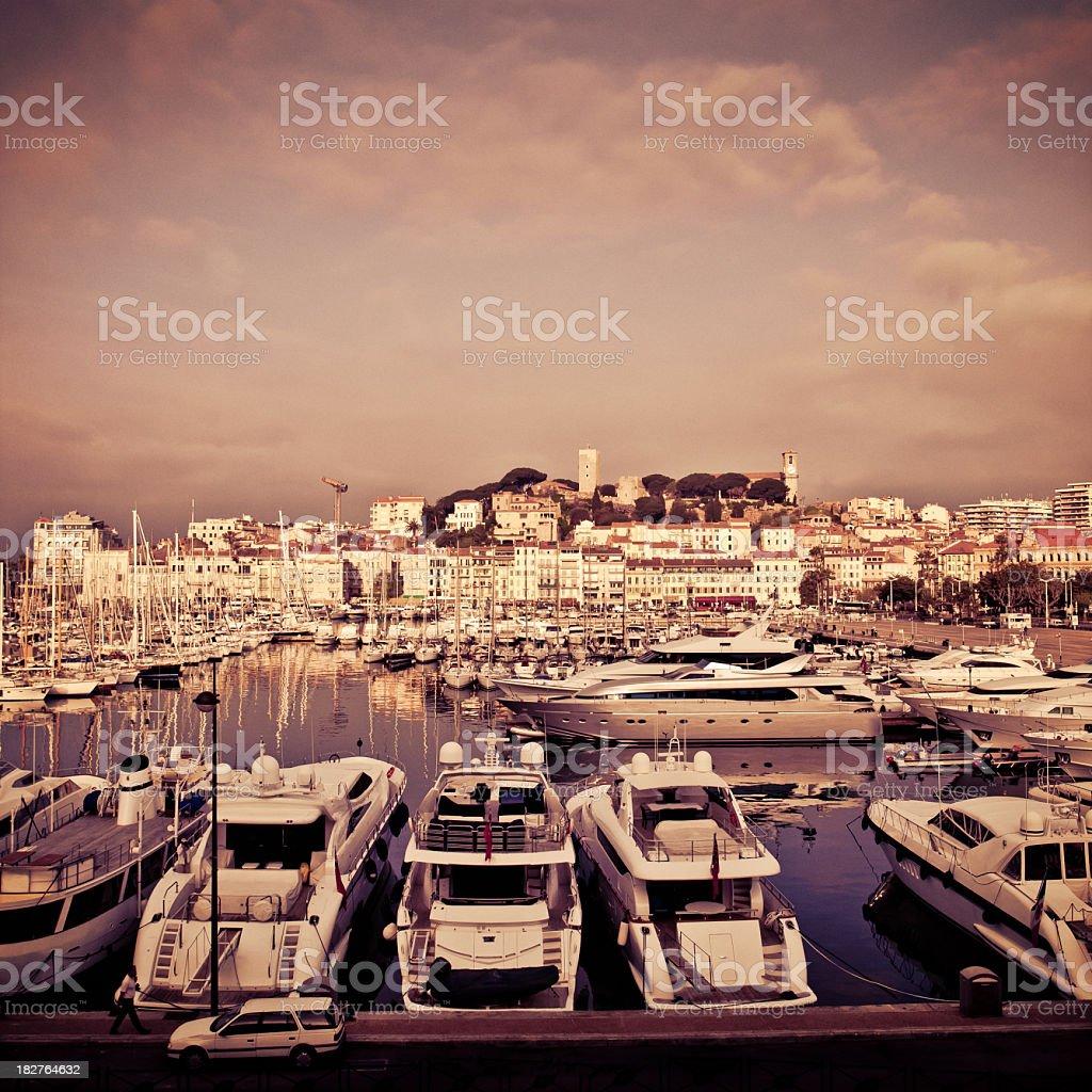 cannes port and marina stock photo