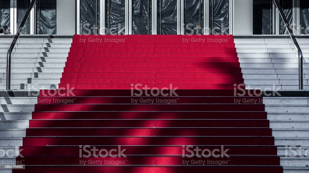 Cannes, red carpet stock photo