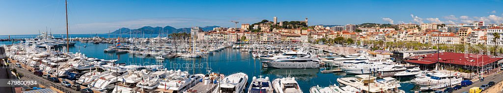 Cannes Waterfront Panorama stock photo